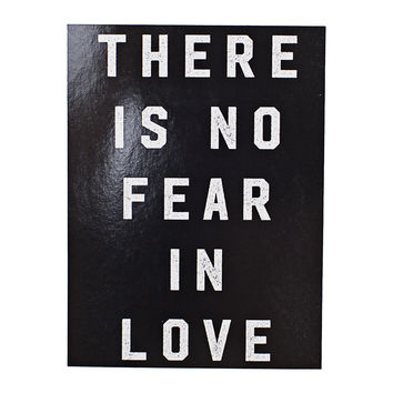 No Fear In Love Black Sticker
