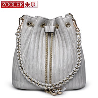 2017 Zooler Bucket bags woman shoulder bag ZOOLER genuine leather bags women messenger bag lady 2017 Classic bolsa Colors #2113