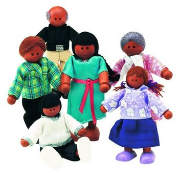 Small World Toys Ryan's Room Wooden Doll House - Family Affair (Hispanic-Americ
