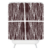 Karen Harris Looking Out in Java Shower Curtain
