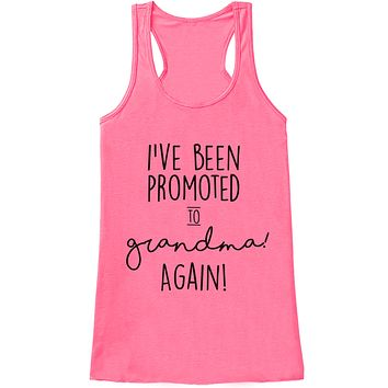 Grandparent Pregnancy Announcement Tank - Promoted to Grandma Again Pregnancy Reveal Shirt - Pregnancy Reveal Shirt - Pink Tank Top