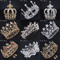 High Quality Luxury Baroque styles Vintage Wedding Bridal Gold Silver