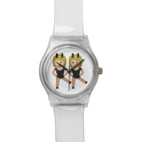 Woman With Bunny Ears Emoji Wristwatch
