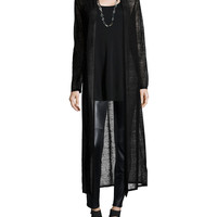 Washable Wool Mesh Maxi Cardigan, Size: