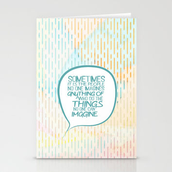 Imitation game.. sometimes the people, alan turing quote Stationery Cards by Studiomarshallarts