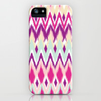 Aztec Tribal Pink Purple iKat Inspired Pattern Design  iPhone & iPod Case by TRM Design