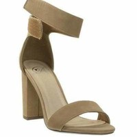 Ankle Strap Chunky Heel