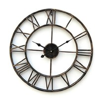 "LightInTheBox 20""H Country Style Metal wall clock Home Décor Clocks"