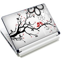 """Laptop Skin Shop 15 15.6 inch Laptop Notebook Skin Sticker Cover Art Decal Fits 13.3"""" 14"""" 15.6"""" 16"""" HP Dell Lenovo Apple Asus Acer Compaq (Free 2 Wrist Pad Included) Lovebirds Eye Catching"""