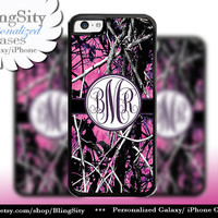 Camo Dark Purple Monogram iPhone 5C 6 Plus Case iPhone 5s 4 case Ipod muddy Realtree Personalized Cover Country Inspired Girl