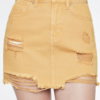 PacSun Mustard Denim Mini Skirt at PacSun.com
