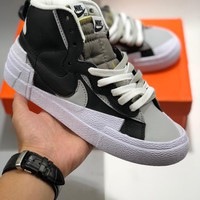 Nike Blazer Mid x Sacai cheap Men's and women's nike shoes
