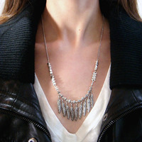 Silver Feather Necklace Metal Feather Necklace Feather Pendant Charm Feather Jewelry Silver Metal Feather Charm SImple Feather Necklace