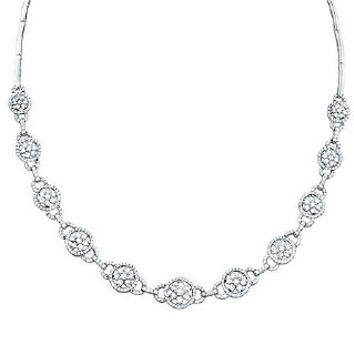 5.15ct 14k White Gold Diamond Necklace