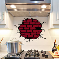 Brick Exposure - Vinyl Wall Art - FREE Shipping - Fun Urban Wall Decal