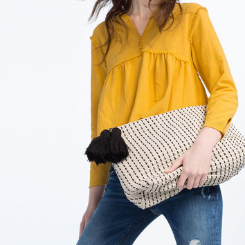 FABRIC CLUTCH - View all-BAGS-WOMAN | ZARA United Kingdom