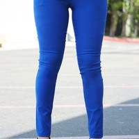 Get Down To Business Pant Royal Blue -Restocked