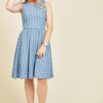 The Real Ahoy Dress in Dots