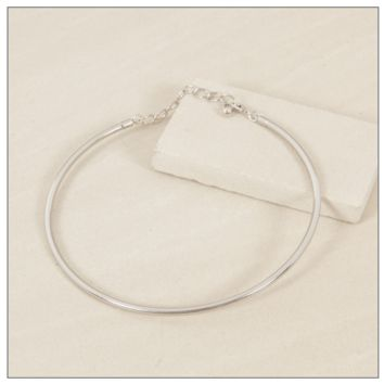 Completely Charming Silver Collar Necklace