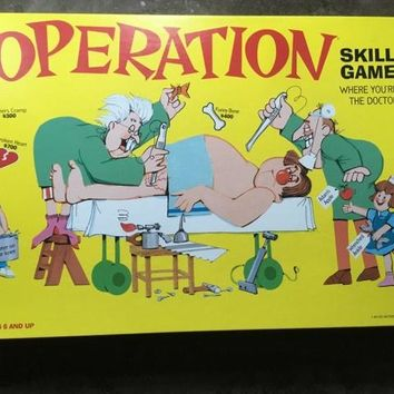 Operation Complete Board Game Milton Bradley 1999