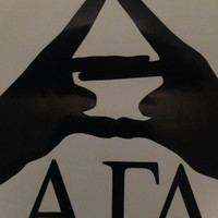 Alpha Gamma Delta Hands Laptop Decal