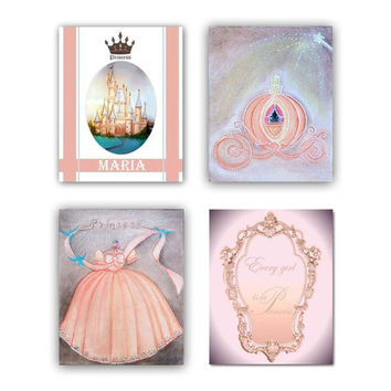 Girl Nursery decor, Princess decor, Peach, Girls room Decor, Princess wall art, Nursery prints, Nursery decor, Castle, Nursery wall art