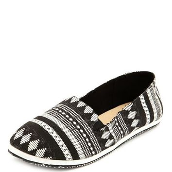 Aztec Fabric Slip-On Flat: Charlotte Russe