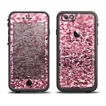 The Subtle Pink Glimmer Apple iPhone 6 LifeProof Fre Case Skin Set