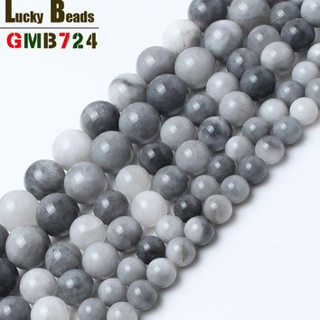 natural round hawks eye stone beads for jewelry making 15inches/strand 6/8/10 mm loose beads for women making bracelet