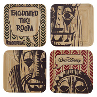Enchanted Tiki Room Bamboo Coaster Set