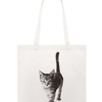 Cat Graphic Tote Bag