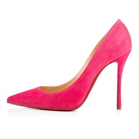 Decoltish 100 Darling Suede - Women Shoes - Christian Louboutin