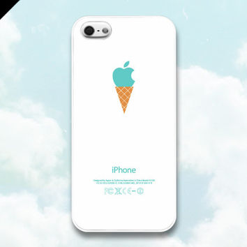 iPhone 5 Case - Ice cream cone apple logo, iPhone Case, iPhone 5 Case, Cases for iPhone 5, Hard iPhone 5 Case