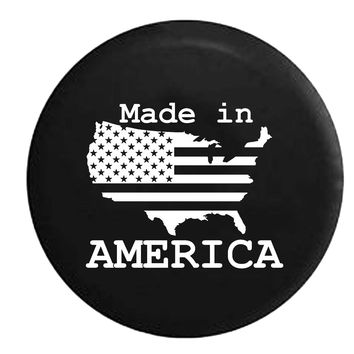 USA United States Flag Made in America RV Camper Jeep Spare Tire Cover