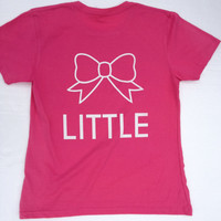 "Alpha Sigma Tau ""Little"" Sister Pink T-Shirt"
