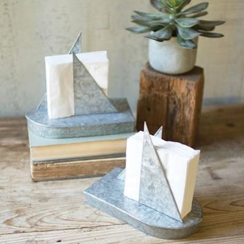 Tin Sailboat Napkin Holder