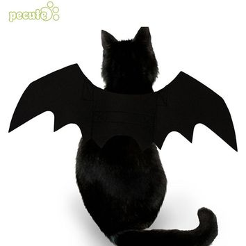 Cute Pet Dress Wing Bat Wings Cat Costume Creative Black Halloween Suppiles Felt Cloth Props Fancy Dress Dog Cat