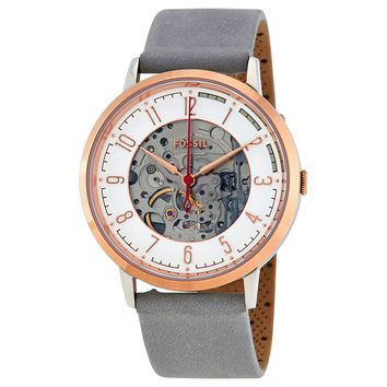 Fossil Vintage Muse Automatic Skeleton Dial Mens Watch ME3131
