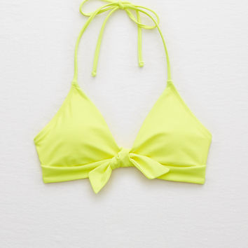 Aerie Super Scoop Halter Bikini Top , Lemon Lime Infusion