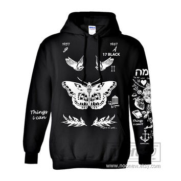 Styles Tattoo Hoodies Sweatshirts Women Sweater Long Sleeve – Size S M L XL