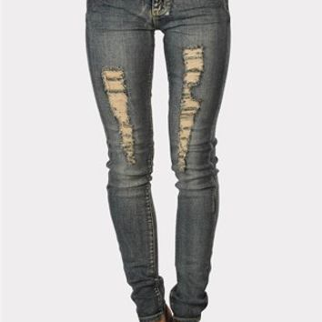 Wear Me Down Jeans - Dark Blue at Necessary Clothing