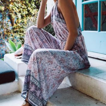 cotton candy - morning glory jumpsuit - lilac