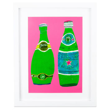 Perrier Framed Art