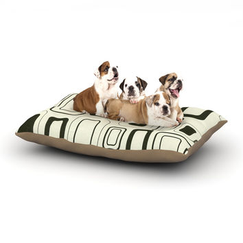 "Heidi Jennings ""Cubes For Days"" Neutral White Dog Bed"