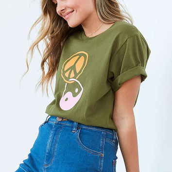 Silence + Noise Yin Yang Peace Tee - Urban Outfitters