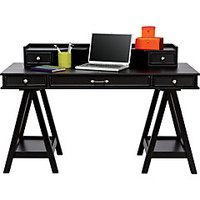 Cottage Colors Black Desk & Hutch