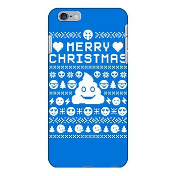 funny ugly christmas smiley emoticon iPhone 6/6s Plus Case
