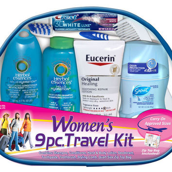 Women's 9 Piece Travel kit