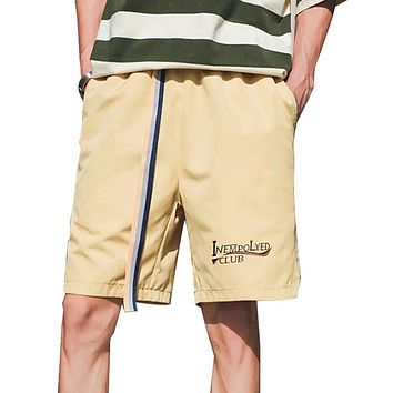 Summer Men Short Pants Male Trousers Casual Shorts Men Middle Waist Short Pants Belts Crotch
