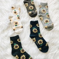 SUNFLOWER SOCKS- MORE COLORS